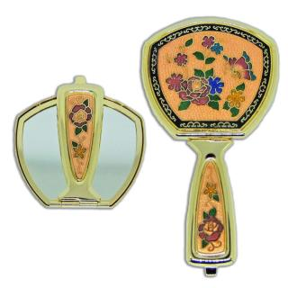 makeup mirror | pocket mirror | cloisonne fold-able hand held mirror