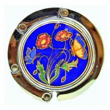 purse hook | purse hanger | Cloisonne retractable bag hanger